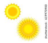 flat sun icon. summer pictogram.... | Shutterstock .eps vector #619970900