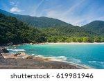 martim de sa beach  paraty  rio ... | Shutterstock . vector #619981946