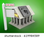 3d illustration of bank over... | Shutterstock . vector #619984589