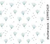 vector floral seamless pattern... | Shutterstock .eps vector #619992419