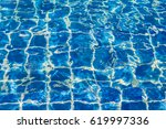 blue color water in swimming... | Shutterstock . vector #619997336