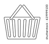 shopping basket icon | Shutterstock .eps vector #619999100