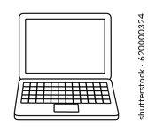 laptop computer icon | Shutterstock .eps vector #620000324