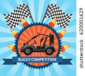 buggy car competition banner...   Shutterstock .eps vector #620001629