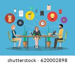 business meeting concept in... | Shutterstock .eps vector #620002898