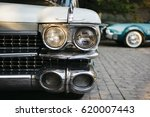 classic american car parked.... | Shutterstock . vector #620007443