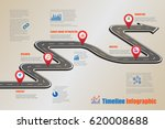 design template  road map... | Shutterstock .eps vector #620008688