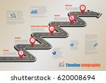design template  road map... | Shutterstock .eps vector #620008694