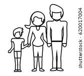 family together lovely outline | Shutterstock .eps vector #620017004
