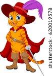 cartoon puss in boots | Shutterstock .eps vector #620019578