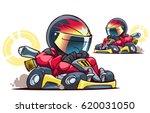 cartoon go kart racer | Shutterstock .eps vector #620031050