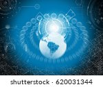 hologram data icons  | Shutterstock . vector #620031344