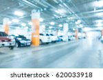 abstract blur car parking in... | Shutterstock . vector #620033918