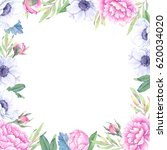 watercolor illustration. floral ... | Shutterstock . vector #620034020