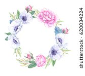 watercolor illustration. floral ... | Shutterstock . vector #620034224