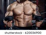 athlete muscular bodybuilder ... | Shutterstock . vector #620036900