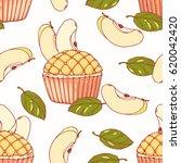hand drawn seamless pattern...   Shutterstock .eps vector #620042420