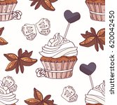 hand drawn seamless pattern...   Shutterstock .eps vector #620042450