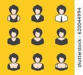 set of different avatars female ...   Shutterstock .eps vector #620044994