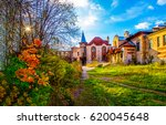 Autumn Old Mansion Landscape