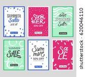 set of summer mobile sale...   Shutterstock .eps vector #620046110