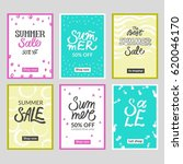 set of summer mobile sale... | Shutterstock .eps vector #620046170