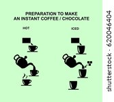 how to make an instant coffee... | Shutterstock .eps vector #620046404