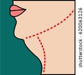 liposuction of  chin  neck ...   Shutterstock .eps vector #620063126