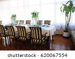served table in the restaurant. ... | Shutterstock . vector #620067554