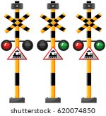 traffic lights for train... | Shutterstock .eps vector #620074850