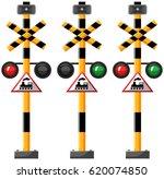 traffic lights for train... | Shutterstock .eps vector #620074850