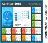 desk calendar for 2018 year.... | Shutterstock .eps vector #620080259