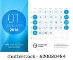 january 2018. desk calendar for ... | Shutterstock .eps vector #620080484