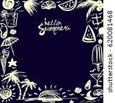 invitation card on happy summer ...   Shutterstock .eps vector #620081468