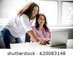 a mother and teenage daughter... | Shutterstock . vector #620083148
