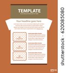 newsletter corporate vector... | Shutterstock .eps vector #620085080