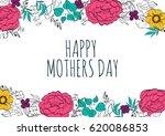 happy mothers day. vector... | Shutterstock .eps vector #620086853
