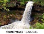 minnehaha falls in minneapolis   Shutterstock . vector #6200881