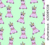 pattern of unicorn. | Shutterstock .eps vector #620089238