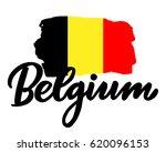 belgium hand drawn ink brush...   Shutterstock .eps vector #620096153