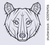 the head of bear in line art... | Shutterstock .eps vector #620096906
