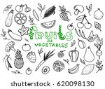 healthy fruit and vegetables... | Shutterstock .eps vector #620098130