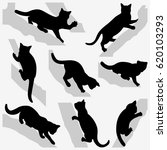 set of cats on a trees.... | Shutterstock . vector #620103293