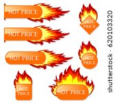 burning with fire design sale... | Shutterstock . vector #620103320
