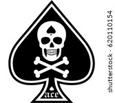 ace of spades with skull design ... | Shutterstock .eps vector #620110154