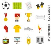 soccer football icons set in... | Shutterstock .eps vector #620110334