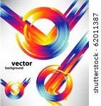abstract technology circles and ... | Shutterstock .eps vector #62011387