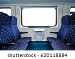 empty interior of the train for ... | Shutterstock . vector #620118884