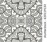 decorative doodle geometric... | Shutterstock .eps vector #620119133