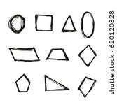 geometric figure hand drawn...   Shutterstock .eps vector #620120828